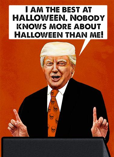 Presidential Halloween Halloween Card Cover