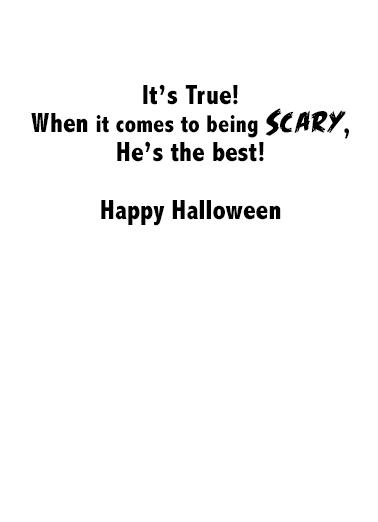 Presidential Halloween Halloween Card Inside