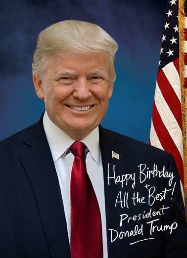 Presidential Signature Birthday Card Cover