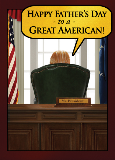 Presidential Wishes FD Father's Day Card Cover