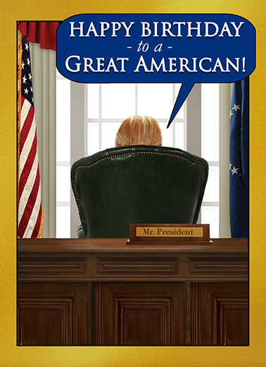 Presidential Wishes Birthday Card Cover