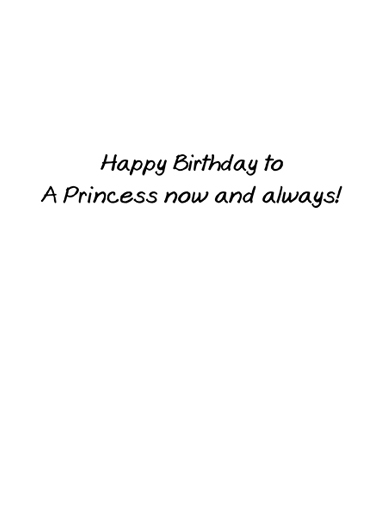 Princess Birthday Card Inside