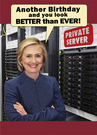 Private Server Hillary Clinton Ecard Cover