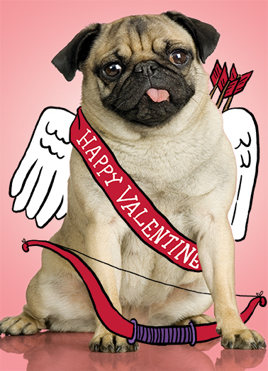 Pug Val Valentine's Day Card Cover