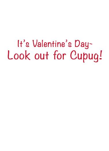 Pug Val Valentine's Day Card Inside