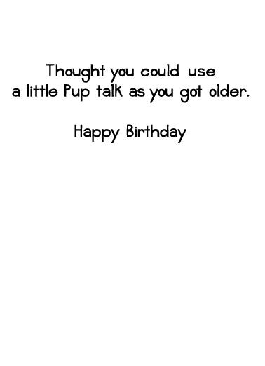 Pup Talk Birthday Card Inside