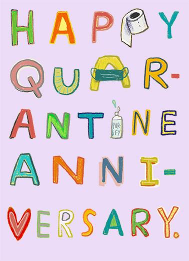 Quarantine Anniversary Anniversary Card Cover