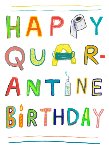 Quarantine Birthday Quarantine Card Cover