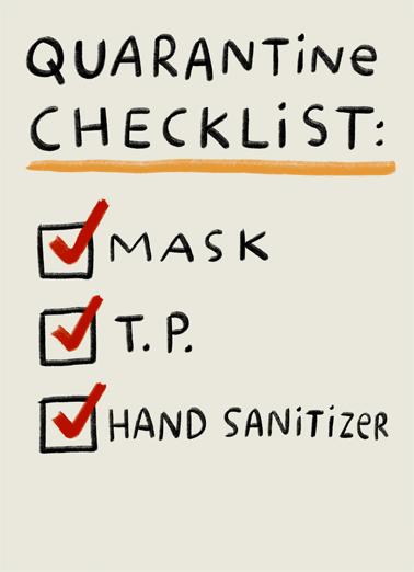 Quarantine Checklist Miss You Ecard Cover