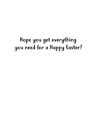 Quarantine Easter Easter Card Inside