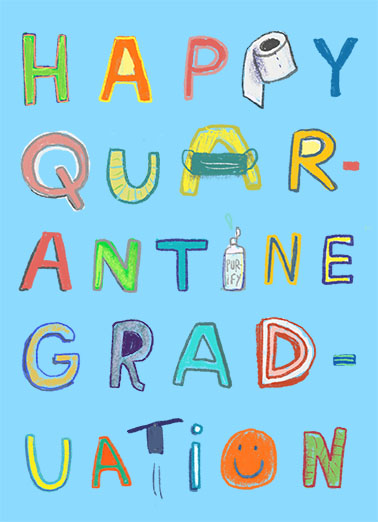 Quarantine Graduation Graduation Card Cover