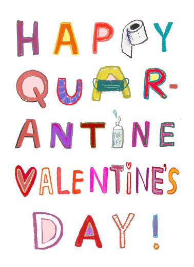 Quarantine Valentine  Card Cover