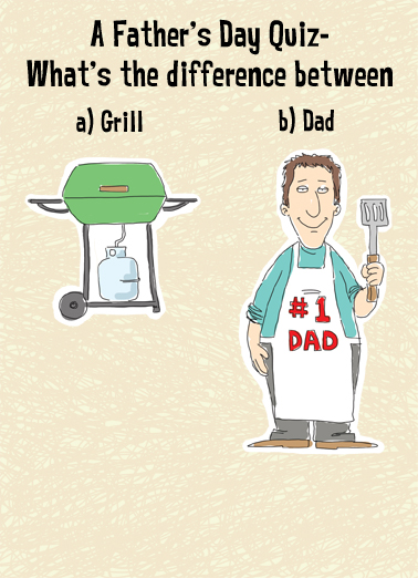 Quiz FD Father's Day Card Cover