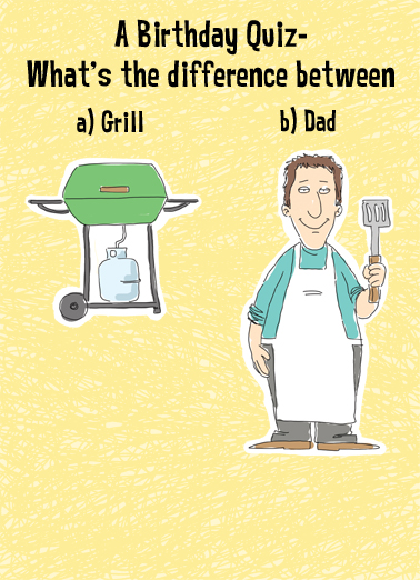 Quiz For Dad Birthday Card Cover