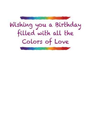 Rainbow Heart Valentine's Day Card Inside