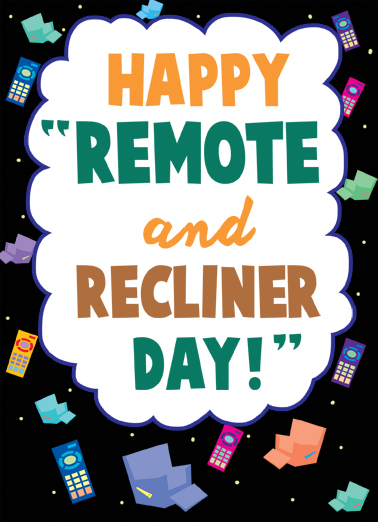 Recliner Day Father's Day Card Cover