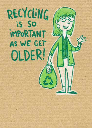 Recycling Age Birthday Card Cover