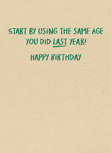 Recycling Age Birthday Card Inside