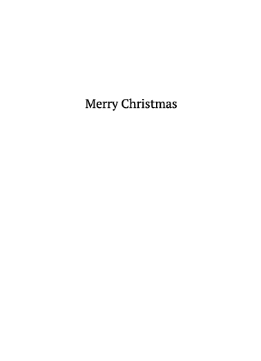 Reindeer Social Distance Christmas Ecard Inside