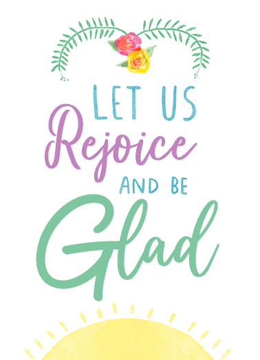 Rejoice and Be Glad Easter Card Cover