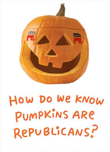 Republican Pumpkins Halloween Ecard Cover