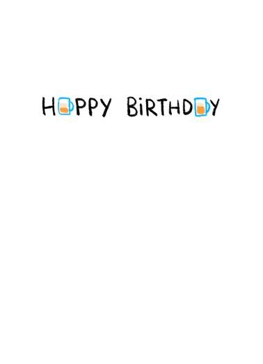 Right Mask BDAY Birthday Card Inside