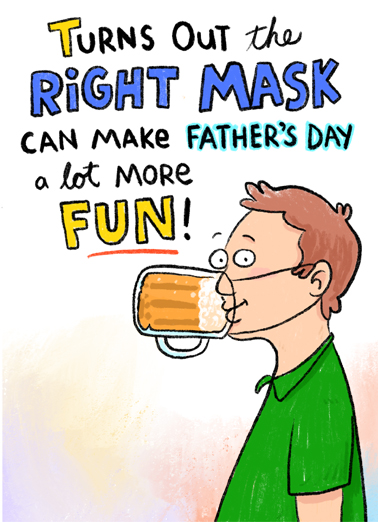 Right Mask FD Father's Day Card Cover
