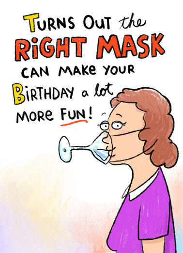 Right Mask Birthday Card Cover