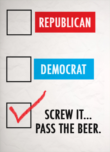 Right Party Funny Political Ecard Cover