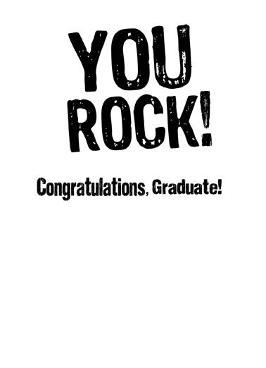 Rock Grad Graduation Card Inside