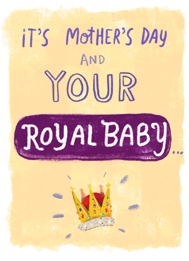 Royal Baby Mother's Day Ecard Cover