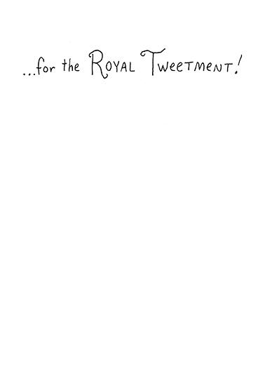 Royal Birdie Thank You Card Inside