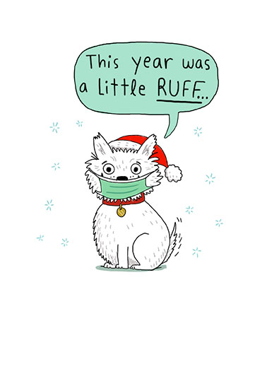 Ruff Year Christmas Card Cover
