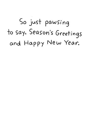 Ruff Year Christmas Card Inside