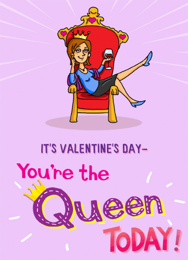 Rule Everybody VAL Valentine's Day Card Cover