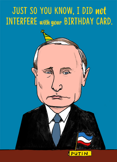 Russian Interference Birthday Card Cover