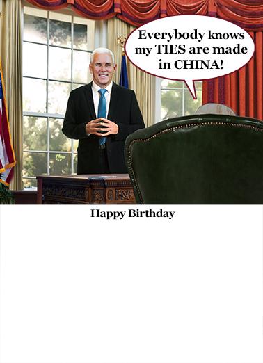 Russian Ties Birthday Card Inside