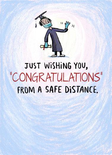 Safe Distance Grad Graduation Ecard Cover