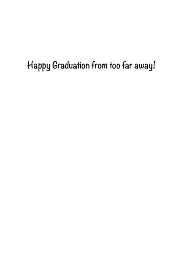 Safe Distance Grad Graduation Ecard Inside