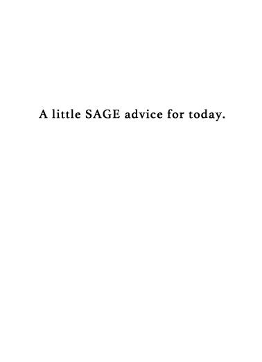 Sage Business Cards Card Inside