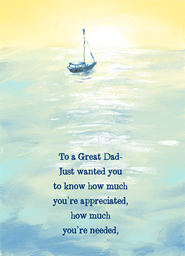 Sailboat FD Father's Day Card Cover