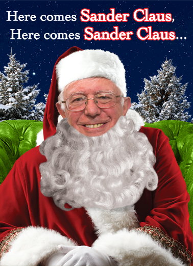Sander Claus Christmas Card Cover