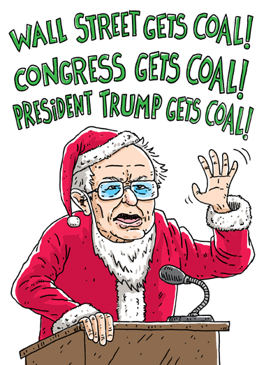 Sanders Claus Christmas Card Cover