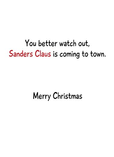 Sanders Claus Christmas Card Inside