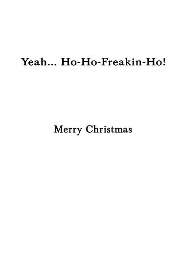 Santa Cat Christmas Card Inside