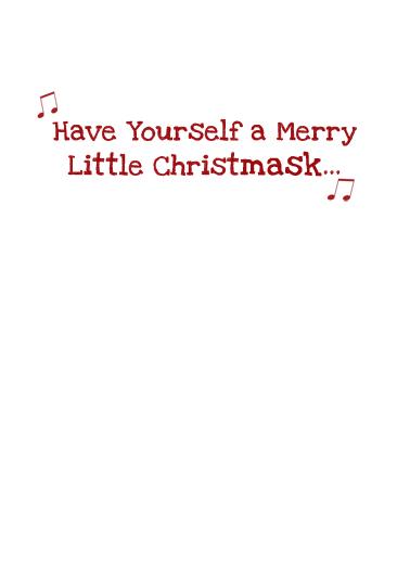 Santa Mask Christmas Ecard Inside