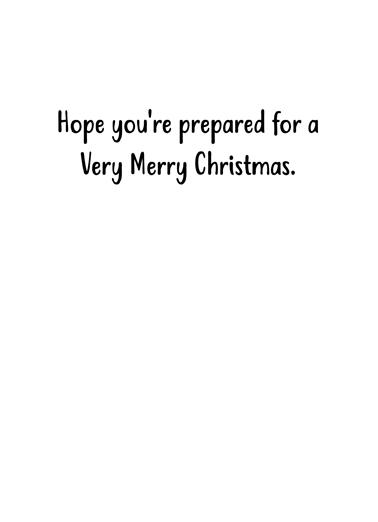 Santa Prepares Christmas Ecard Inside