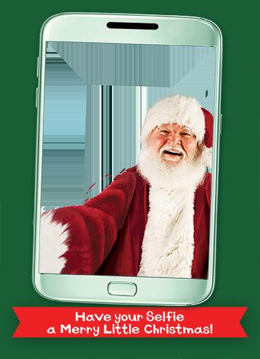 Santa Selfie Card Christmas Card Cover