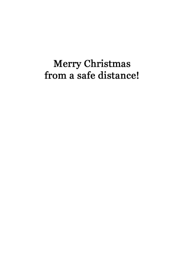 Santa Stay Back Christmas Card Inside
