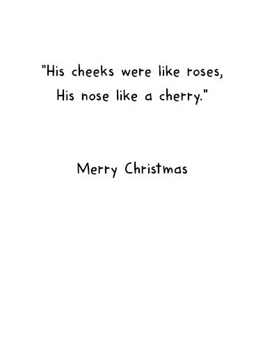 Santa Sunburn Christmas Card Inside